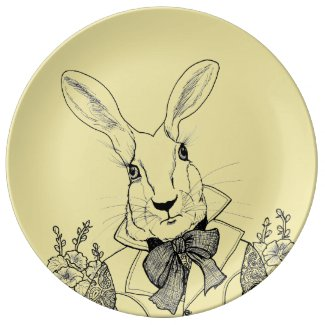 White Rabbit from Alice's Adventures in Wonderland Dinner Plate