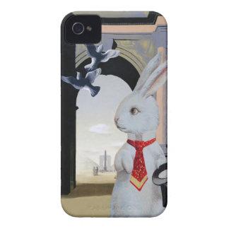 White Rabbit Goes to Paris Cute Vintage Composite iPhone 4 Case-Mate Case