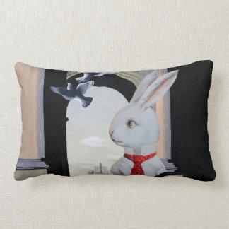 White Rabbit Goes to Paris, France Pillow