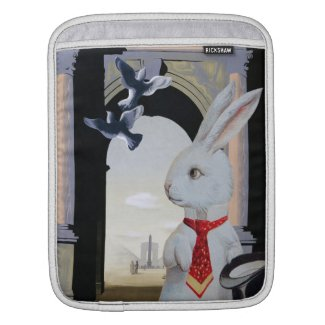 White Rabbit Goes to Paris Sleeves For iPads