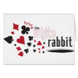 White Rabbit Greeting Cards