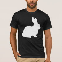 White Rabbit Hare Alice In Wonderland Party T-Shirt