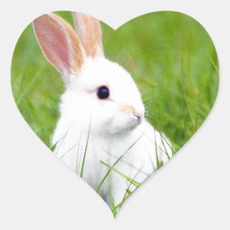 White Rabbit Heart Sticker