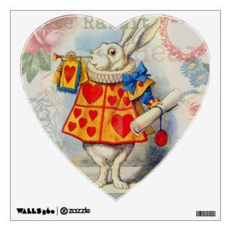 White Rabbit Hearts Wall Graphic