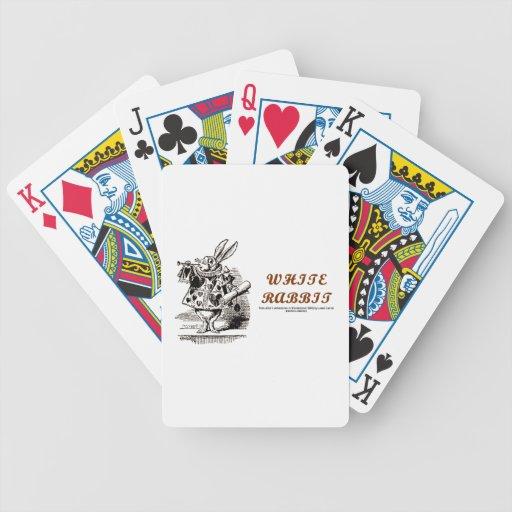 White Rabbit Herald Hearts Wonderland Bicycle Playing Cards