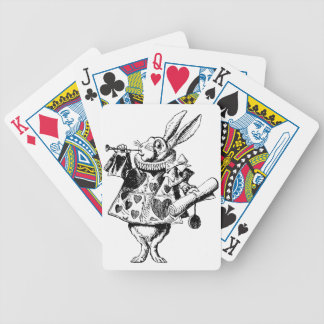 White Rabbit Herald Inked Black Bicycle Playing Cards