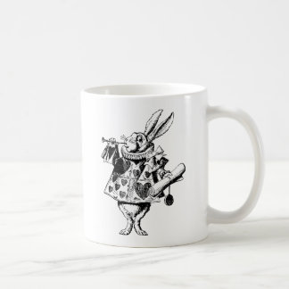 White Rabbit Herald Inked Black Coffee Mug