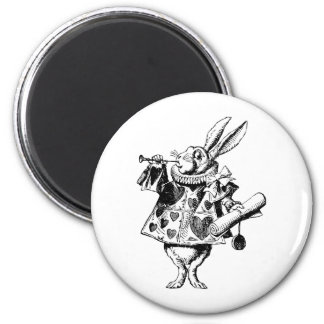 White Rabbit Herald Inked Black Magnet