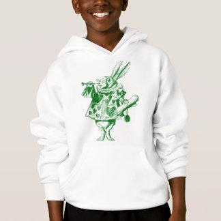 White Rabbit Herald Inked Green Hoodie