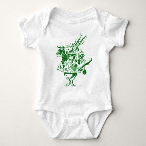 White Rabbit Herald Inked Green Shirt