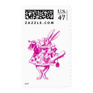 White Rabbit Herald Inked Pink Stamp