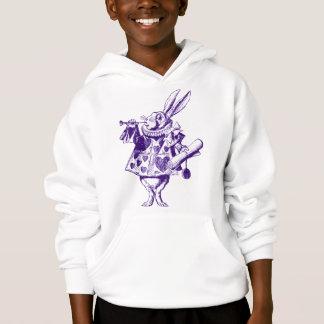 White Rabbit Herald Inked Purple Hoodie