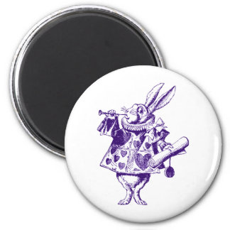 White Rabbit Herald Inked Purple Magnet