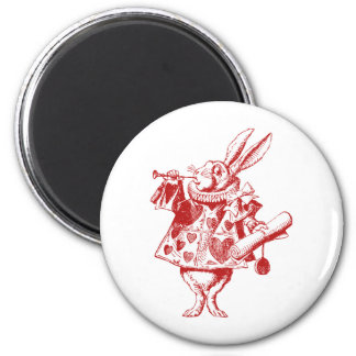 White Rabbit Herald Inked Red Magnet