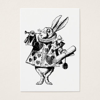 White Rabbit Herald Prom Bid Business Card