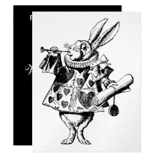 White Rabbit Herald Prom Bid Card