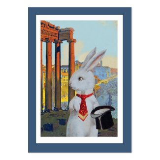 White Rabbit in Rome and Paris - Two Sided Business Card