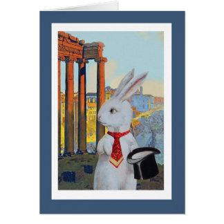 White Rabbit in Rome Card