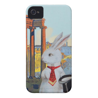 White Rabbit in Rome - Cute Vintage iphone Case Case-Mate iPhone 4 Case