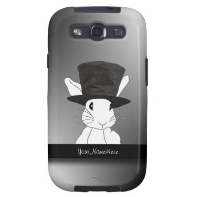 White Rabbit in Top Hat Samsung Galaxy S3 Case