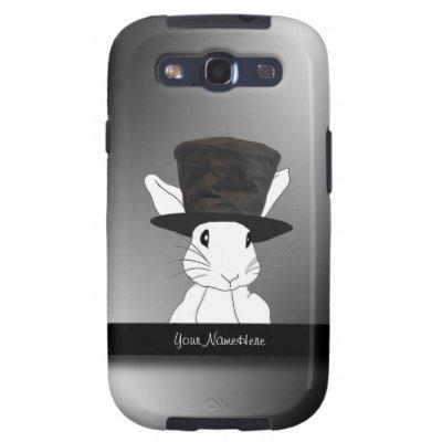 White Rabbit in Top Hat Samsung Galaxy S3 Case