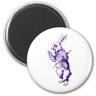 White Rabbit Inked Purple Magnet