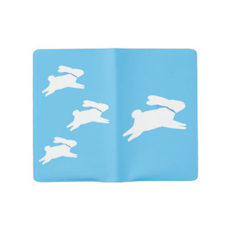 White rabbit large moleskine notebook cover with notebook