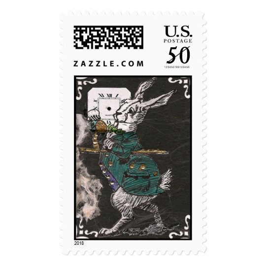 white rabbit large postage