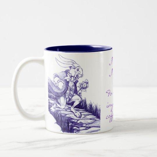 White Rabbit Late Late Late Coffee Date Tea Mug