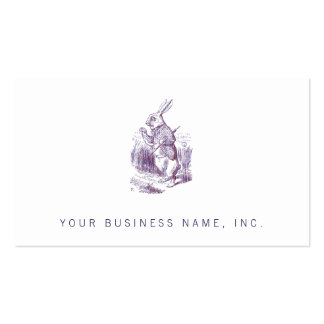 White Rabbit Letterpess Style Business Card