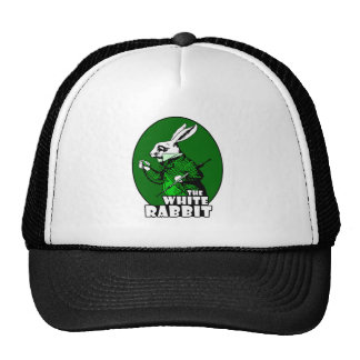 White Rabbit Logo Green Trucker Hat