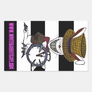 White Rabbit Logo & Website Sticker