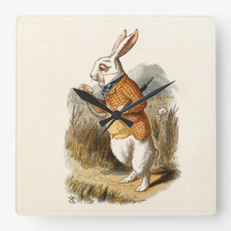 White Rabbit looking at his watch wall clock
