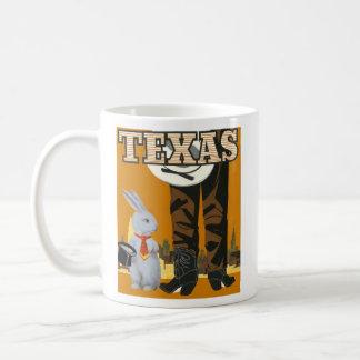 White Rabbit Meets the Cowboy - Texas Coffee Mug