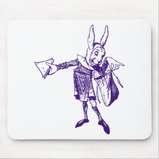 White Rabbit Messenger Inked Purple Mouse Pad