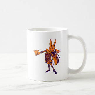 White Rabbit Messenger Inked Purple Orange Coffee Mug