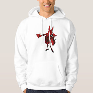 White Rabbit Messenger Inked Red Fill Hoodie