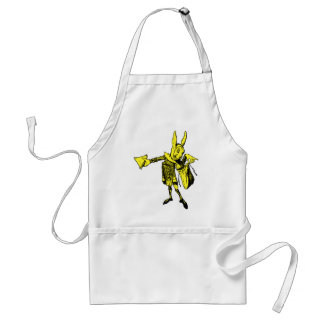 White Rabbit Messenger Inked Yellow Fill Adult Apron