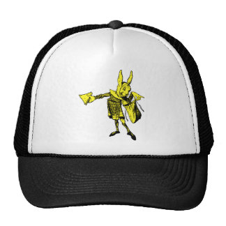 White Rabbit Messenger Inked Yellow Fill Trucker Hat