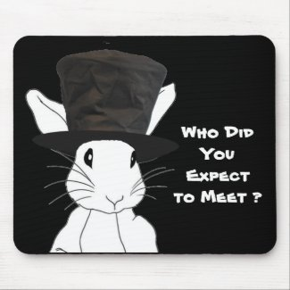 White Rabbit Mouse Pad