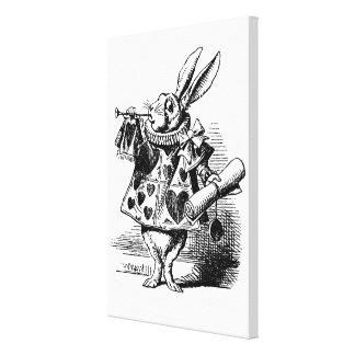 White Rabbit of Alice in Wonderland Canvas Print