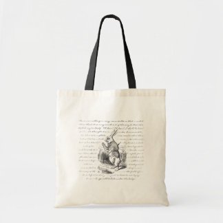 White Rabbit - Oh Dear! Oh Dear! I shall be Late! Canvas Bags