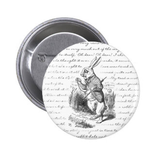 White Rabbit - Oh Dear! Oh Dear! I shall be Late! Pinback Button