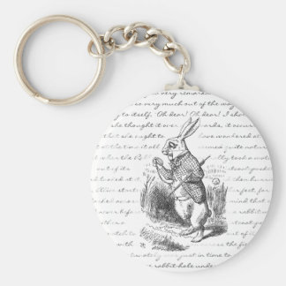 White Rabbit - Oh Dear! Oh Dear! I shall be Late! Key Chains
