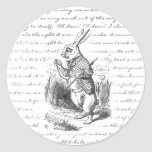 White Rabbit - Oh Dear! Oh Dear! I shall be Late! Classic Round Sticker