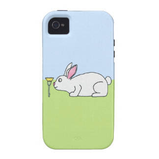 White Rabbit On a Lawn Case-Mate iPhone 4 Cases