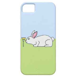 White Rabbit. On a Lawn. iPhone SE/5/5s Case