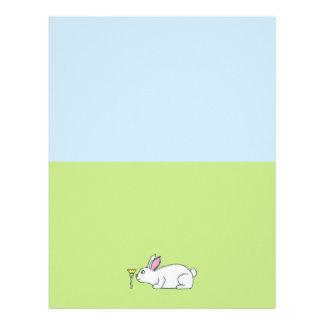 White Rabbit. On a Lawn. Letterhead Template