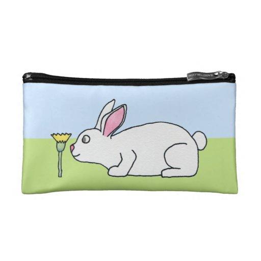 White Rabbit. On a Lawn. Makeup Bag