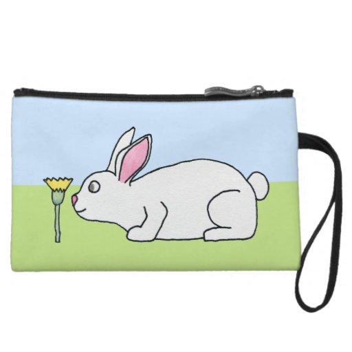 White Rabbit. On a Lawn. Wristlet